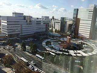 ツアー中宿泊ホテルから見えた浜松駅